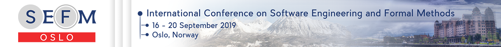 SEFM 2019: International Conference on Software Engineering and Formal Methods
